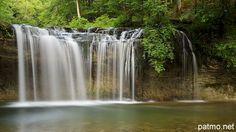 Gour Bleu waterfall on Hérisson river.  Jura - France