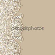 Descargar - Tarjeta de invitación de encaje — Ilustración de Stock #58585381
