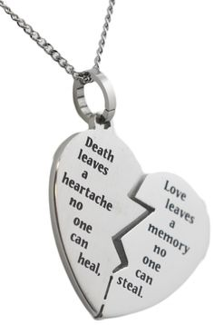 Shop Broken Heart Bereavement Necklace Stainless Steel Pendant Condolence Gifts and Search Thousands of Unique Pendants Discount Sale Up to off. Long Chain Necklace, Long Pendant Necklace, Silver Necklaces, Silver Jewelry, Jewelry Necklaces, Heart Necklaces, Silver Ring, Chain Necklaces, Leaf Necklace