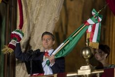 El presidente Enrique Peña Nieto en su primer Grito de Independencia. Foto: Octavio Gómez.