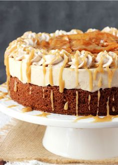 This Caramel Apple Blondie Cheesecake is pure caramel apple heaven, I ...