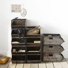 caisse empilables valentini industriel indus factory cases baskets box