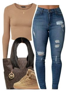 """""""........."""" by trinityannetrinity ❤ liked on Polyvore featuring MICHAEL Michael Kors and NIKE"""