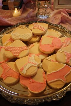 These are so easy to make - all you need is a heart-shaped cookie cutter and some royal icing. Guaranteed to make your guests smile.