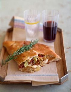 healthy and easy chicken calzone!
