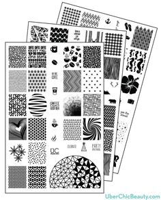 UberChic Nail Stamp Plates - Collection 2 - Includes 3 Unique Nail Stamp Plates http://uberchicbeauty.com/products/uberchic-nail-stamp-plates-collection-2.html