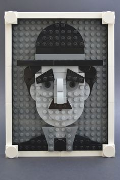 https://flic.kr/p/A5SFiq | Charlie | Inspired by the wonderful Chris McVeigh's brick portraits.   www.flickr.com/photos/powerpig/