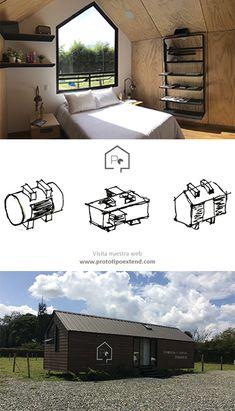 Prototipo Extend®  Interiores - 47m2 Medellín - Antioquia Medellin Colombia, Prefab Homes, Interiors