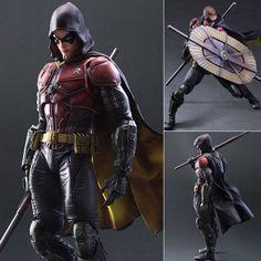 Play Arts Kai Robin from Batman Arkham Knight Action Figure Square Enix Japan Batman Robin, Batman Arkham Knight Robin, Batman Arkham City, Batman The Dark Knight, Batman Action Figures, 3d Figures, Gotham, Kai, Joker Cosplay Costume