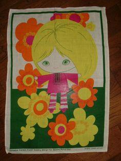 1960s tea towel