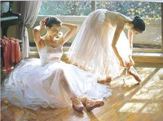 pinturas de envío libre de los bailarines de ballet cuadro decoración pintura al óleo aceite sin marco salón pintura abstracta painting420