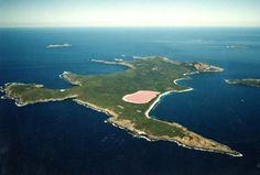Le lac Hillier, un lac rose en Australie