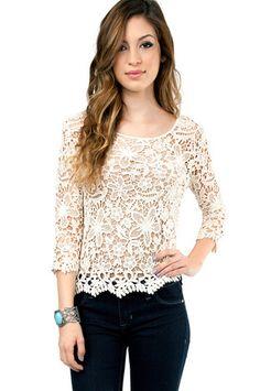 Flower Power Crochet Top $25 at www.tobi.com