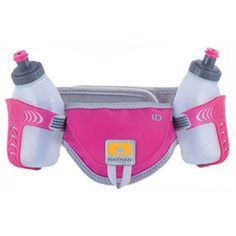Nathan Speed 2 Hydration Belt. More comfortable to run with then a hydration pack or holding a water bottle in your hand.