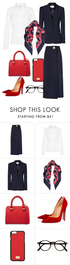 """""""pinstripe - work it"""" by shistyle on Polyvore featuring Gucci, Victoria Beckham, Christian Louboutin, Dolce&Gabbana, WorkWear and pinstripe"""