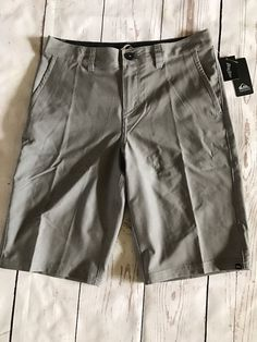 Quicksilver Amphibians Men's Shorts Gray Size 30 Polyester Blend New W/ Tags $48 #Quicksilver #CasualShoes