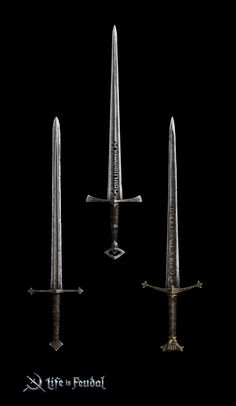 Concept art for the Life is Feudal MMO Fantasy Sword, Fantasy Armor, Fantasy Weapons, Medieval Fantasy, Concept Weapons, Armor Concept, Concept Art, Swords And Daggers, Knives And Swords