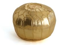 Moroccan Pouf, Gold on OneKingsLane.com