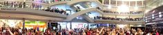 This weekend the Mortal Instruments: City of Bones Mall Tour Kicked Off. First stop: Mall of America. Kevin Zegers (to play Alec Lightwood), Jamie Campbell Bower (to play Jace Wayland), and Lily Collins (to play Clary Fray) all attended the event. (7/28/13) This is a panorama of the large event.