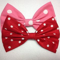 Minnie Mouse Hair Bows <3 Available at Juicy Bows