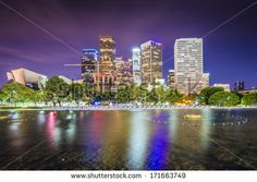 Los Angeles, California downtown skyline. - stock photo