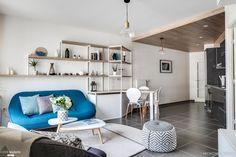 Notre mission : pour ce projet, MyHomeDesign est intervenu sur le séjour et la chambre. Notre but était d'aider notre cliente à apporter l'essentiel, fonctionnalité et style à cet appartement acquis en VEFA.