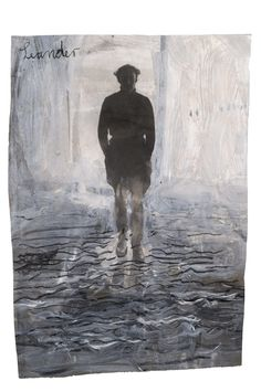 ANSELM KIEFER Leander 1969 Paint and charcoal on black and white photograph 75 x…