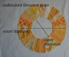 leedle deedle quilts: EZ Dresden Ruler post 1 - Diameter Chart