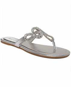 Gold Rampage Triton Flat Thong Sandals $25 @Elaine Young's