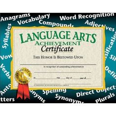 Editable quarterly awards certificate template deped tambayan ph language arts achievement certificate 30 pack downloadable templates available to personalize or can be handwritten yelopaper Choice Image