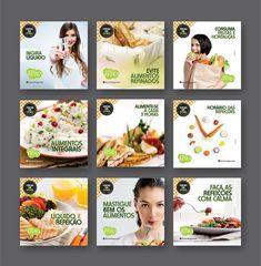 Cards criados para alimentação das redes sociais da empresa Dona Ricota Gourmet