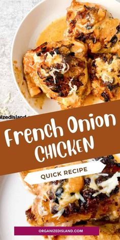 Easy French Onion Chicken Recipe; Chicken and Onions