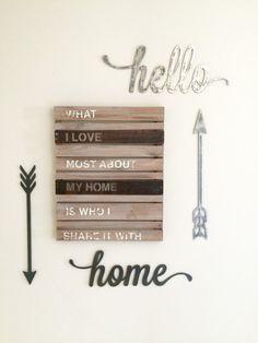 Rustic Metal Script Home Decor Love Home by ModernRusticMetalArt