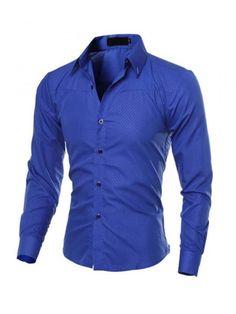 Camisa Social Texturizada Roupas Para Homens 269354e6d2640