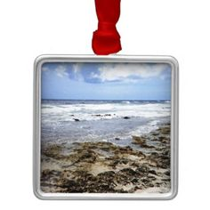 Aruba Rocky Ocean Christmas Ornaments    •   This design is available on t-shirts, hats, mugs, buttons, key chains and much more    •   Please check out our others designs and products at www.zazzle.com/zzl_322881145212327*