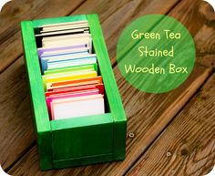 Hoot Designs: Tea Stained Wooden Sample Box - Organic Bloom - SALE