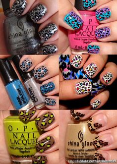 Fun nails!  If you have the patience, if not...try Sally Hansen's nailpolish strips (Walmart).