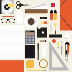 flat geometric vector illustration