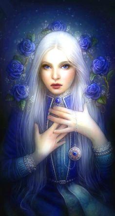 8e3a44ebd2bda92a6c5aac603f660a9b--fantasy-art-women-blue-roses.jpg (236×442)