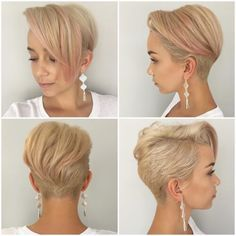 A classic disconnected pixie cut by Michele Sanford