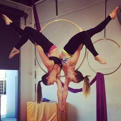 Doubles Lyra @rattymacxx #lyralove #aerialist #aerialnation @aerialnation #makingshapes #aerialhoop #aerialdancer #dragonflybrand #rhapsodesigns #gforcepoleandfitness #gforcers #lifeisbetterupsidedown #happyplace #poledancersofinstagram #friendship