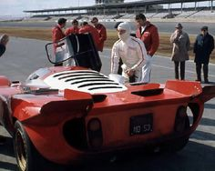 Mario Andretti and his Ferrari 512 at Daytona 1970. He just pipped Steve McQueen for the victory...