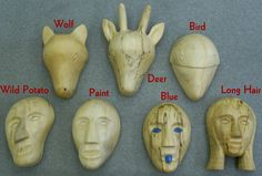 mask of the clans of cherokee | Cherokee Clan Mask
