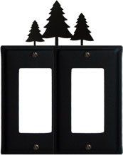 Piecene Trees Double GFI Electric Cover by Blue Lake Essentials. $25.06. GFI Electric Cover - Feature a baked on powder coat finish for long lasting durability. Mounting screws are included. Mesusurments Listed On Custom Help Page 34