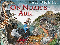 On Noah's Ark -jan Brett beautiful illustrations