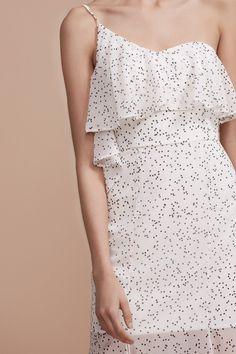 KEEPSAKE EMBRACE ME MAXI DRESS white w black spot