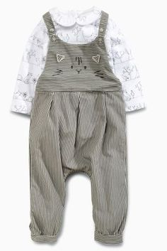 Buy Grey Cat Dungarees And Bodysuit (0mths-2yrs) online today at Next Direct: Malta