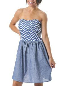(CLICK IMAGE TWICE FOR DETAILS AND PRICING) Sailor Love Striped Strapless Dress Aquamarine. For a casual look, team this dress with wedge sandals and a neutral colored tote or pair it with a blazer and pretty heels for a party perfect event.. See More Strapless Dress at http://www.ourgreatshop.com/Strapless-Dress-C73.aspx