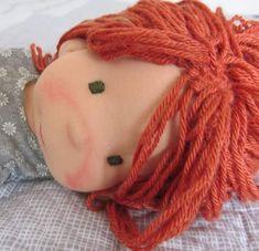 Redhaired again  #workinprogress #poupeewaldorf #puppenwaldorf#bemkadolls #gift#ecofriendly #wooldoll#lili