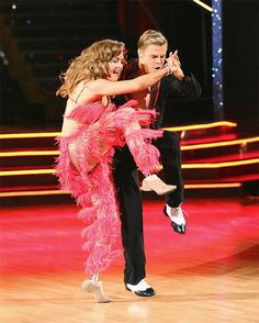 Amy Purdy and Derek Hough appear on 'Dancing With The Stars' season 18 on May 19, 2014.